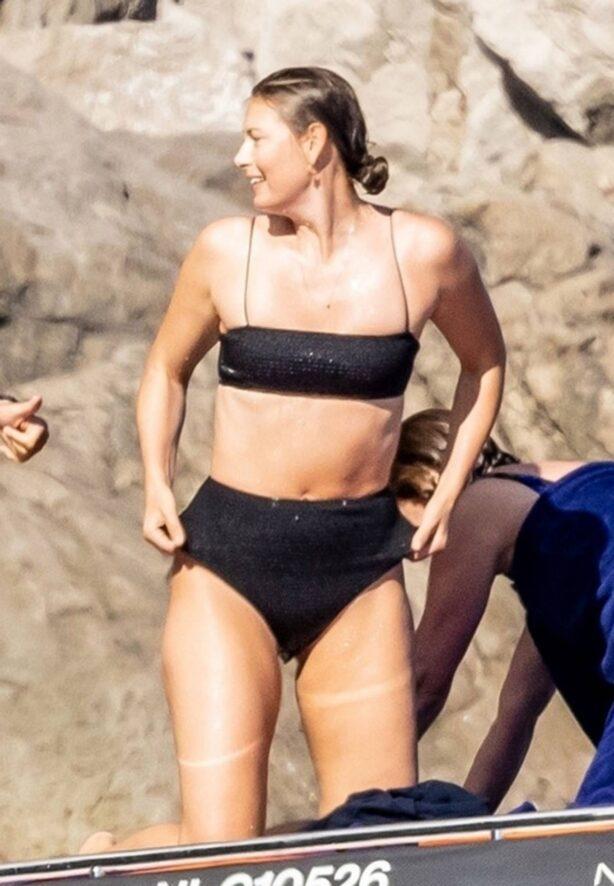 Maria Sharapova - In a bikini at the Cliffs of Nerano