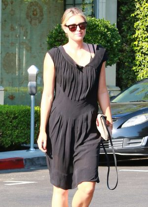 Maria Sharapova in Black Dress out in Los Angeles