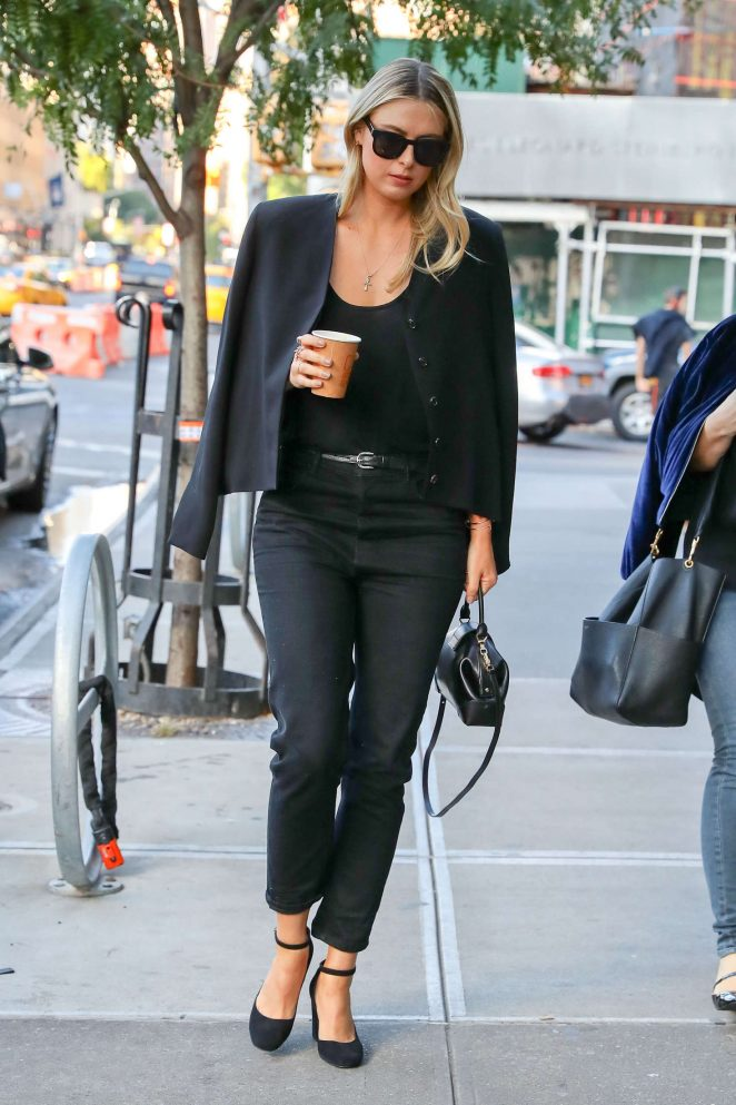 Maria Sharapova in Black out in New York City
