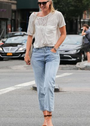 Maria Sharapova in Jeans out and about in NYC