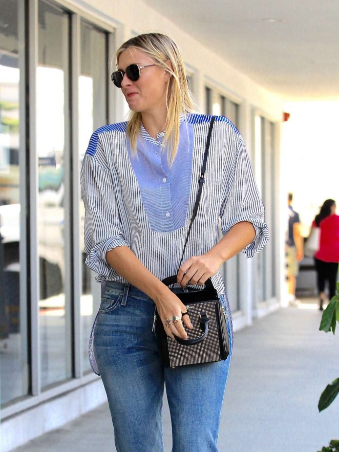Maria Sharapova in Jeans out in Los Angeles