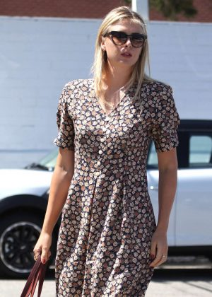 Maria Sharapova in Long Summer Dress in Los Angeles