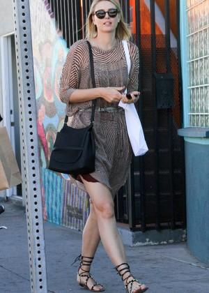 Maria Sharapova in Mini Dress Out in Venice