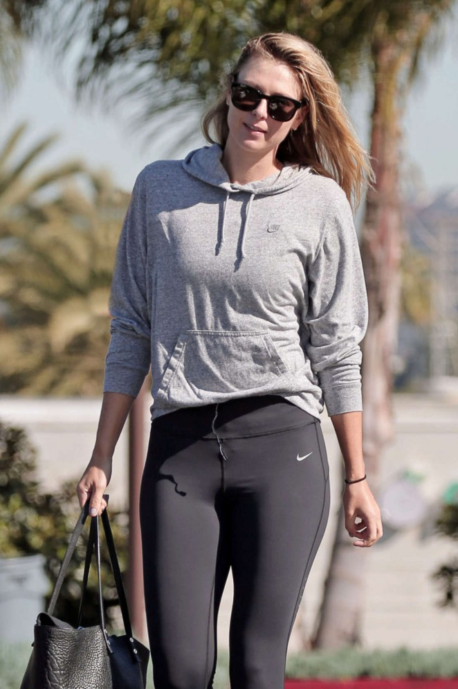 Maria Sharapova in Tights out in Los Angeles