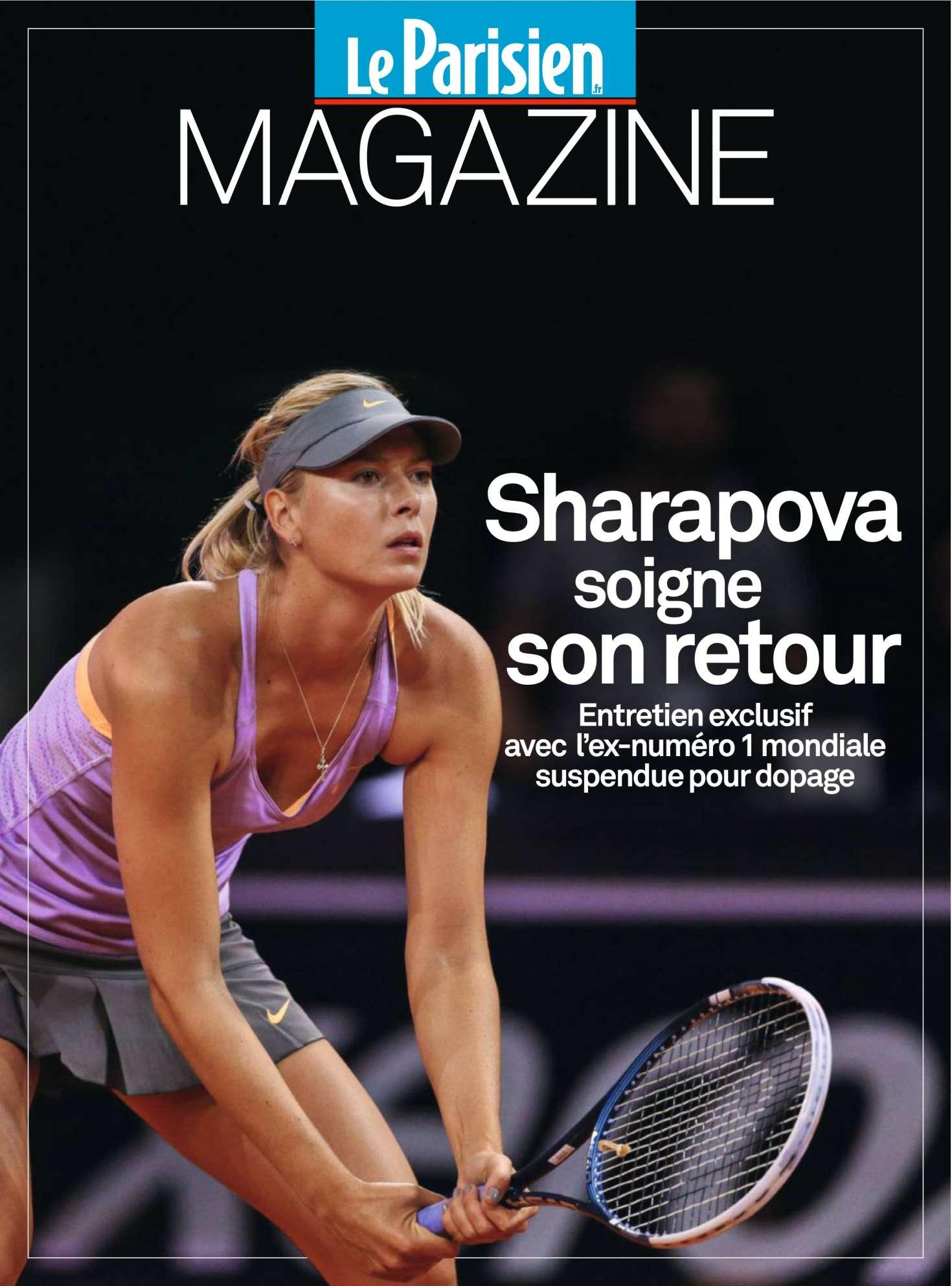 Maria Sharapova Le Parisien Magazine April 2017