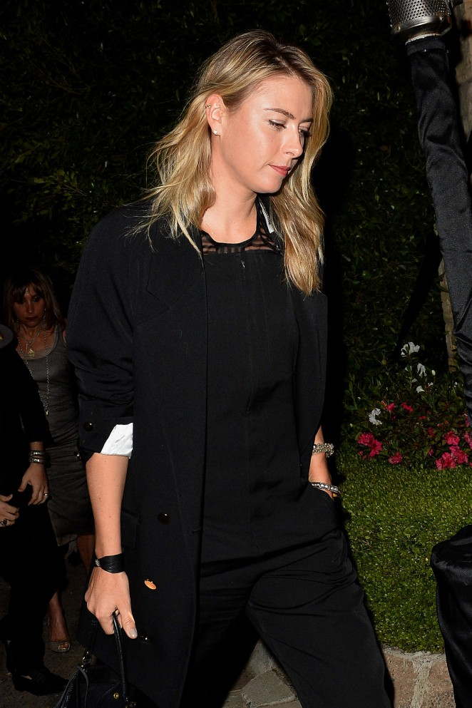 Maria Sharapova: Leaves a Pre Oscar Talent Agency Party -01