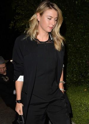 Maria Sharapova - Leaves a Pre Oscar Talent Agency Party in Los Angeles