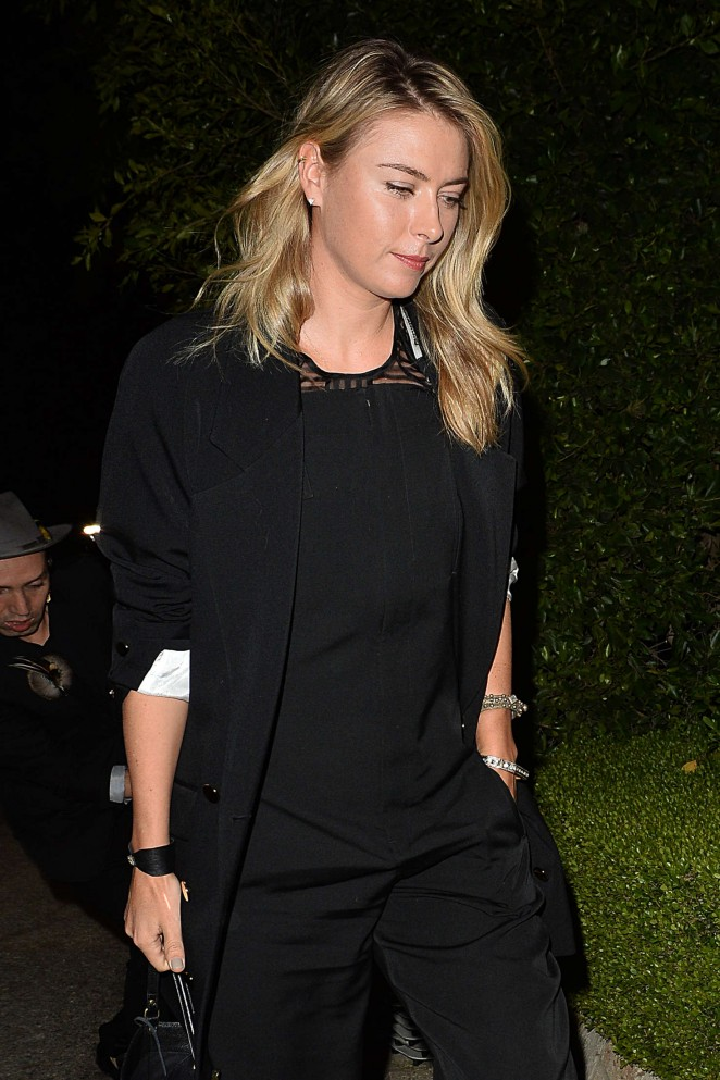 Maria Sharapova - Leaves a Pre Oscar Talent Agency Party in Los Angeles