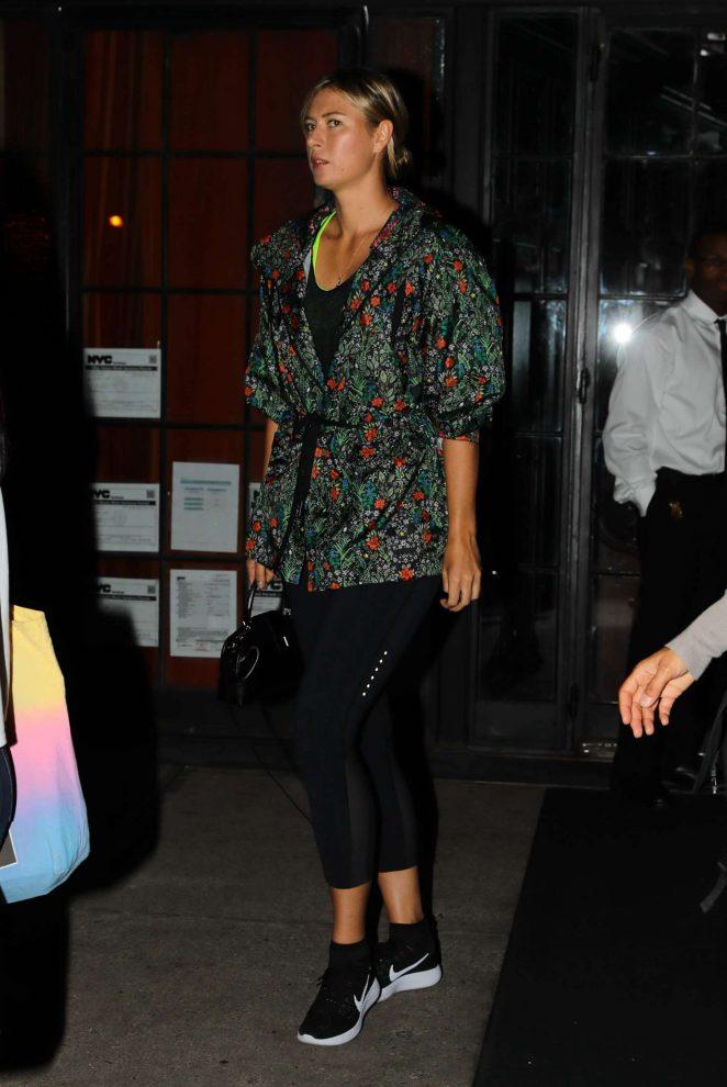 Maria Sharapova Leaves her hotel in New York