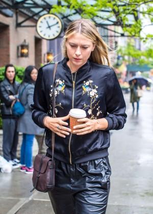 Maria Sharapova - Leaves Her Hotel in NYC