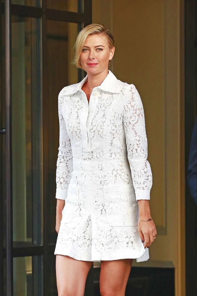 Maria Sharapova - Leaving her hotel in NYC