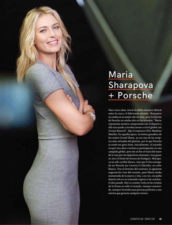 Maria Sharapova - Life and Style Magazine (March 2018)