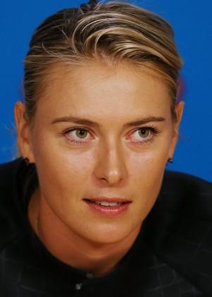 Maria Sharapova - Media Session in Melbourne