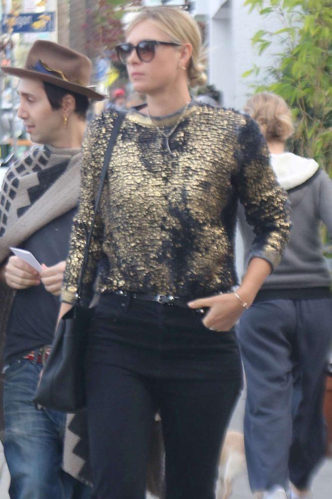 Maria Sharapova on a shopping trip in Venice