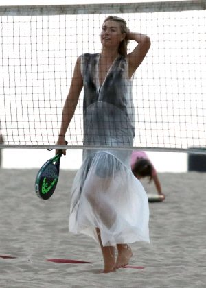 Maria Sharapova on the beach in Los Angeles