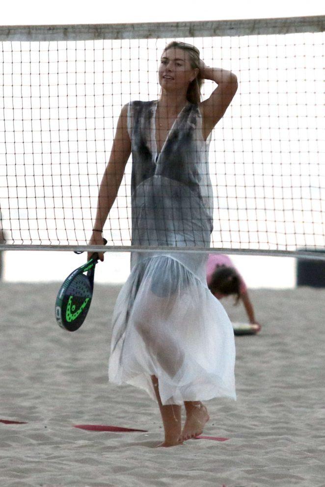 Maria Sharapova on the beach in Los Angeles