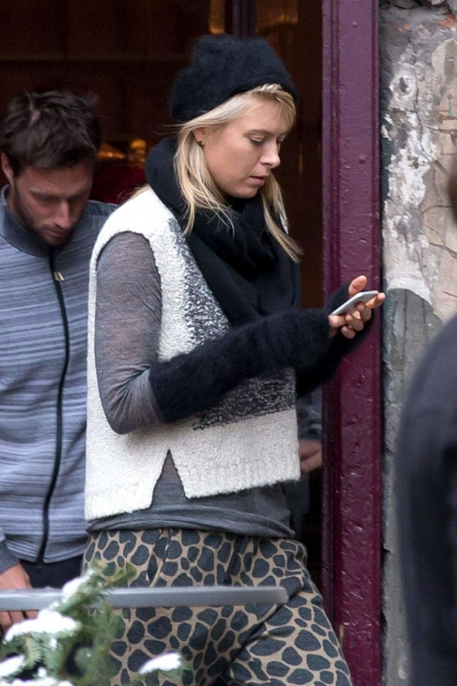Maria Sharapova - Out and about in Krakow
