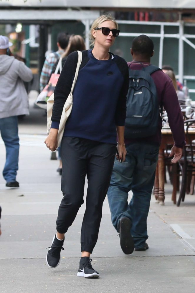 Maria Sharapova out in East Village in New York City