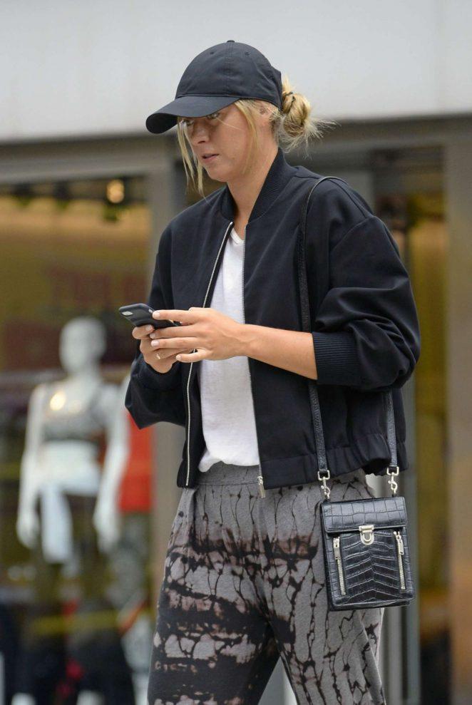 Maria Sharapova out in New York City