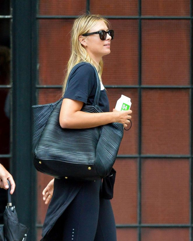 Maria Sharapova out in New York City