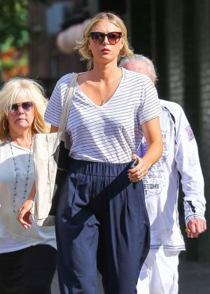 Maria Sharapova out in New York