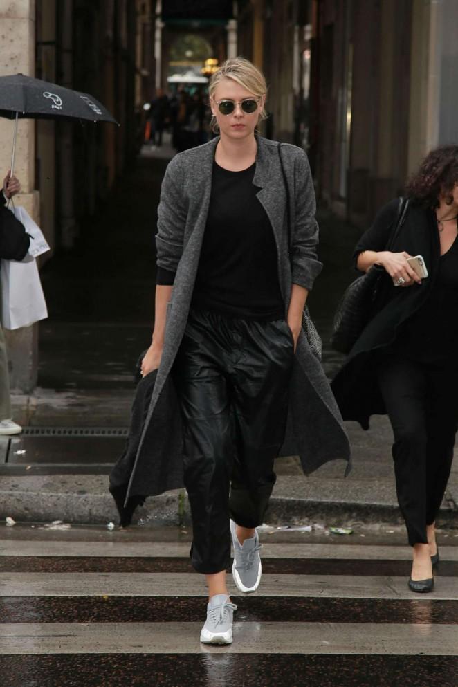 Maria Sharapova out in Paris