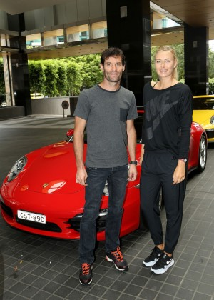 Maria Sharapova - Porsche Photocall in Melbourne