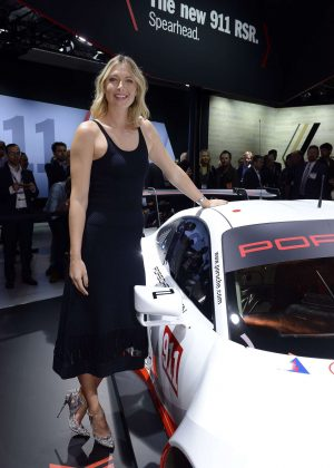 Maria Sharapova - Porsche Press Conference in Los Angeles