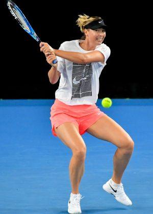 Maria Sharapova - Practice Session at the Australian Open 2018 in Melbourne