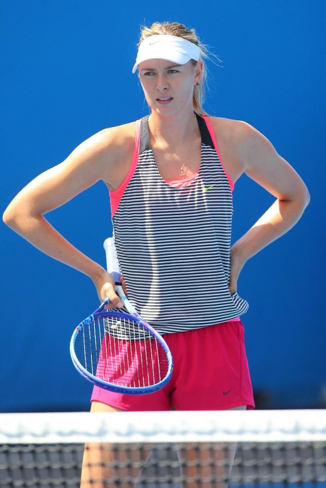 Maria Sharapova - Practice Session in Melbourne 2015