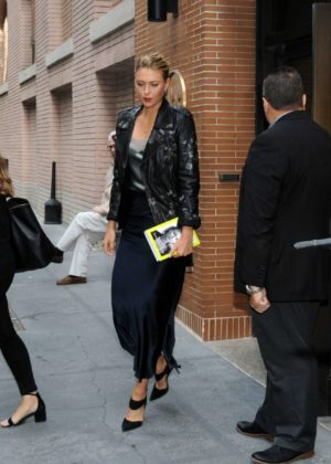 Maria Sharapova - Seen At The View Studio In New York