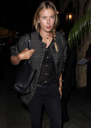 Maria Sharapova - Snoop Dogg's Vogue Dinner Party at El Compadre Restaurant in Hollywood