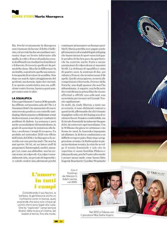 Maria Sharapova: SportWeek Magazine 2017 -05