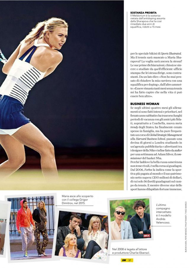 Maria Sharapova: SportWeek Magazine 2017 -08