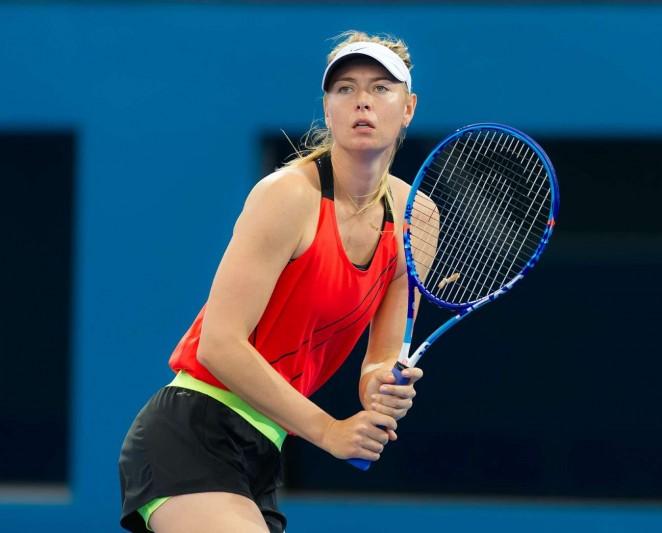Maria Sharapova – Training – Brisbane Australia