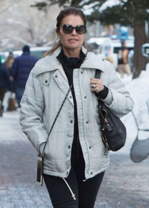 Maria Shriver out shopping in Aspen