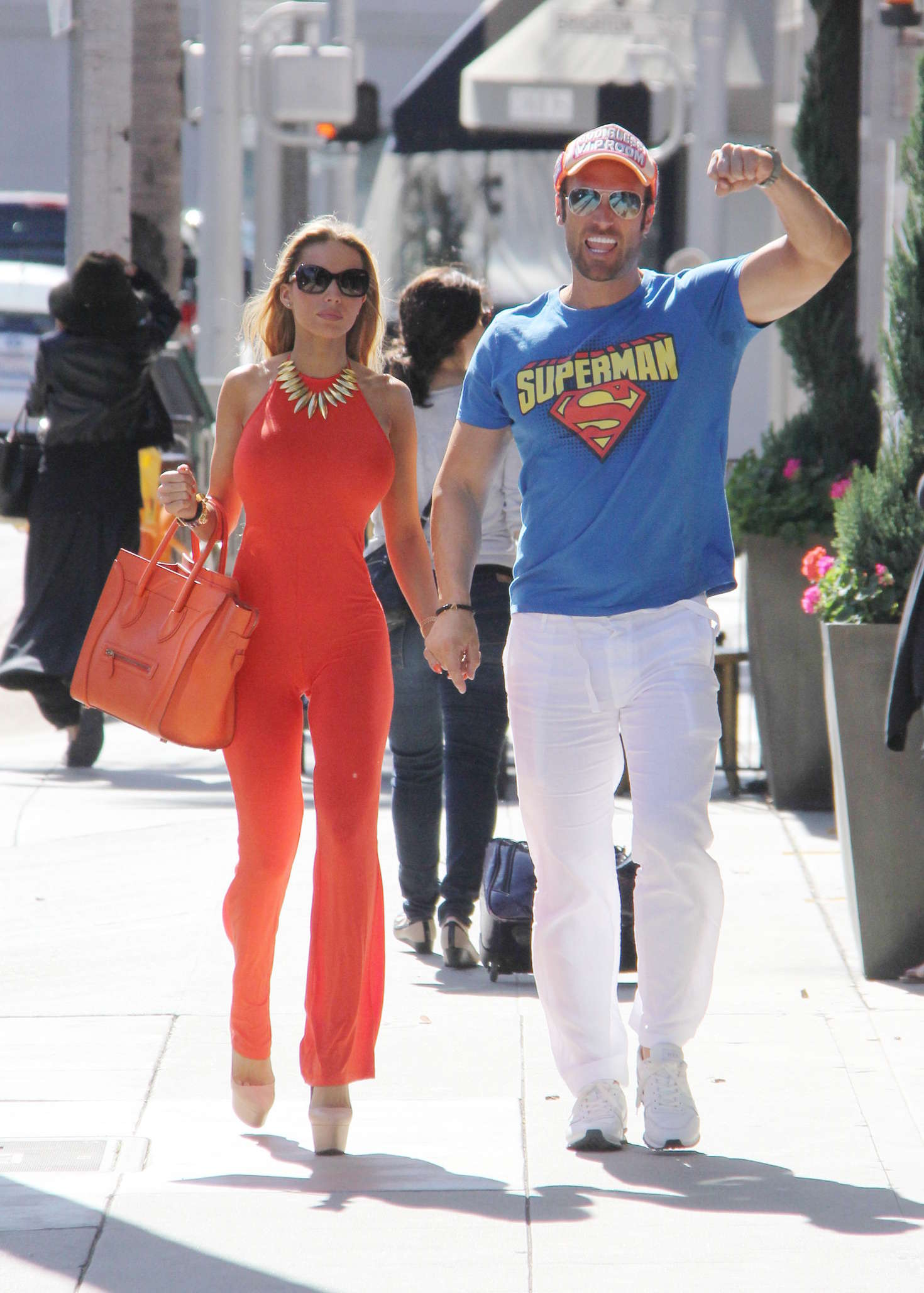 Maria Yotta in Red out in Beverly Hills -02 - GotCeleb