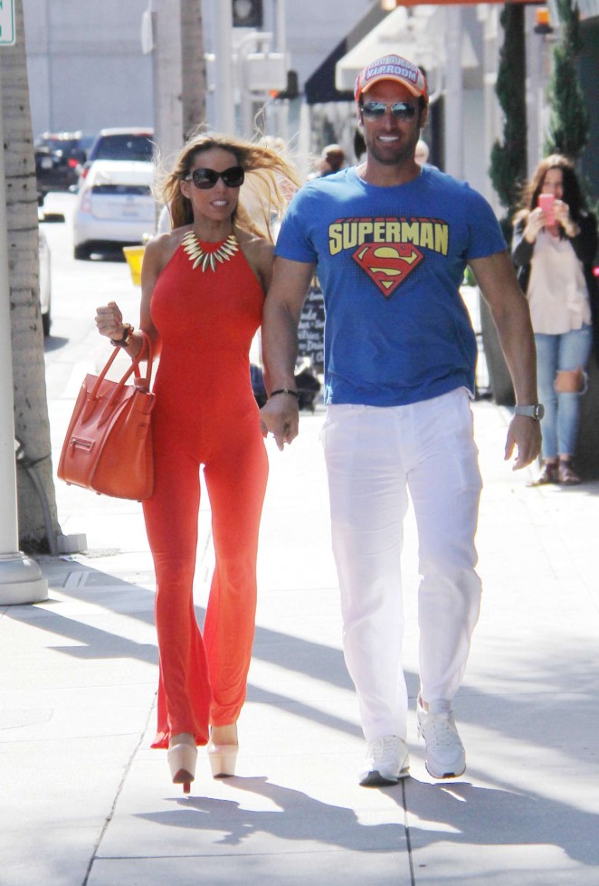 Maria Yotta in Red out in Beverly Hills