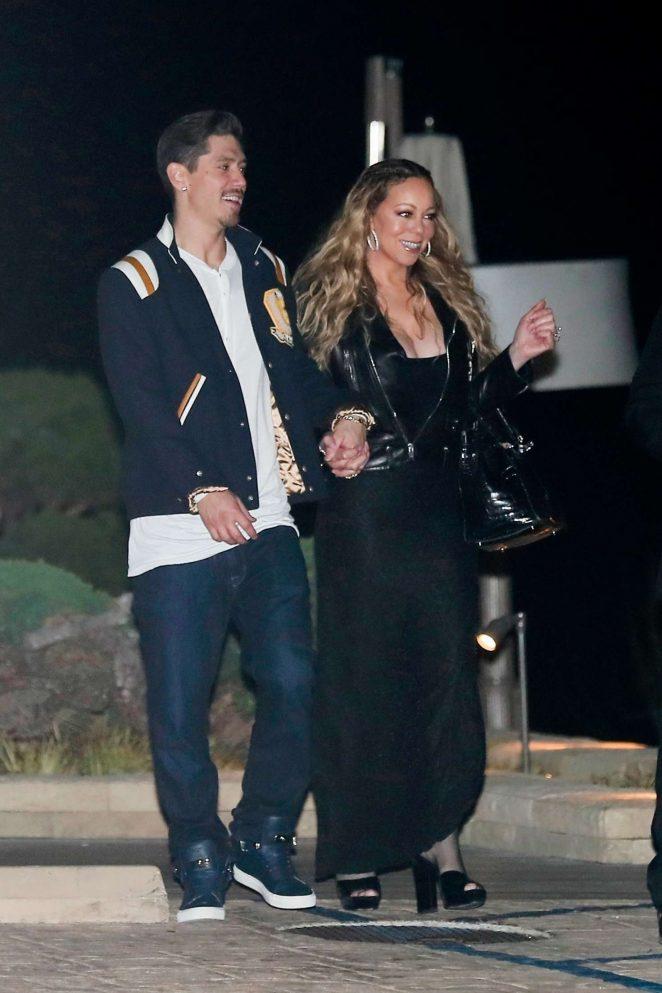 Mariah Carey and Bryan Tanaka at Nobu in Malibu