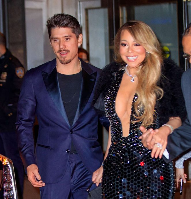 Mariah Carey and Bryan Tanaka - Leaving the Clive Davis pre-grammy party in NYC