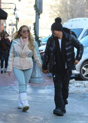 Mariah Carey and Bryan Tanaka - Out and about in Aspen