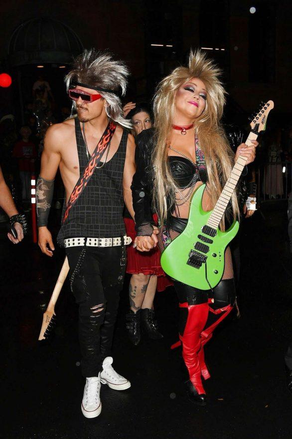 Mariah Carey and Kristofer Buckle - Leaves Heidi Klum's Halloween Party in NYC