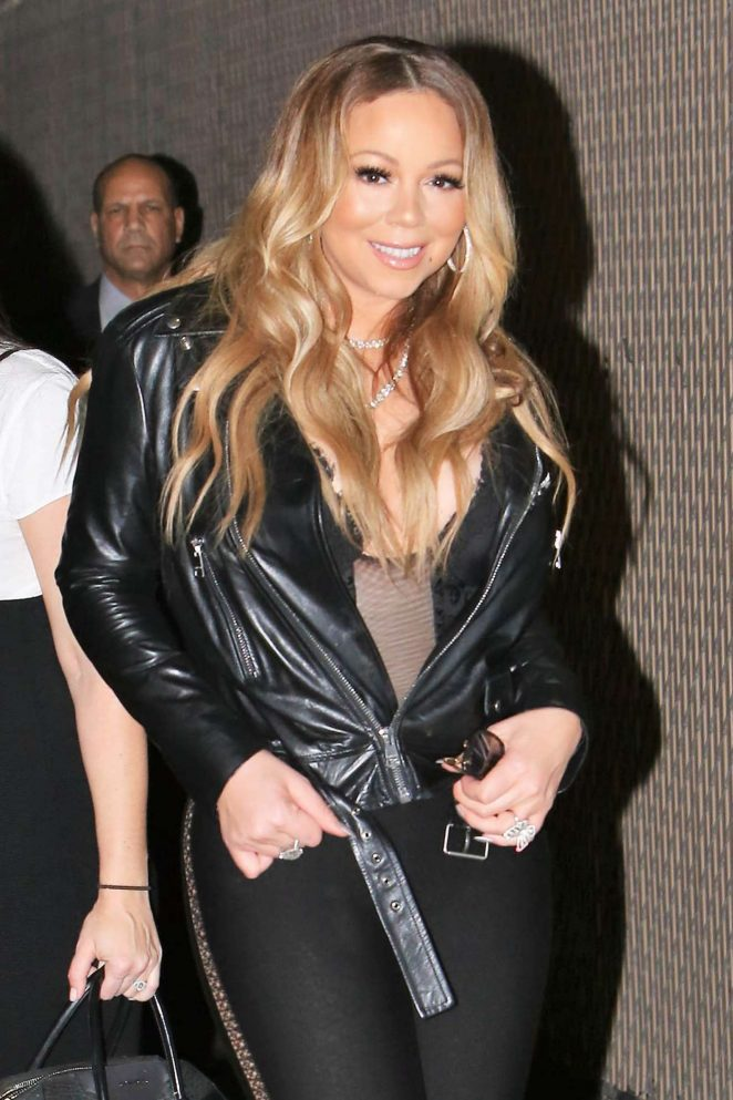 Mariah Carey – Arrives at Jimmy Kimmel Live in Los Angeles