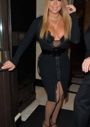 Mariah Carey - Arriving at The Dorchester hotel in London