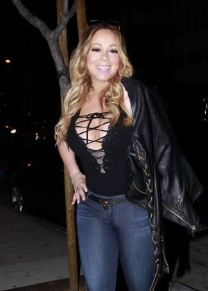 Mariah Carey at Au Fudge Restaurant in Los Angeles