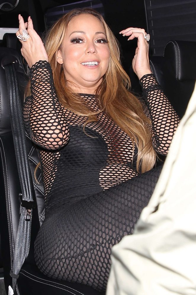 Mariah Carey at Berri's Cafe for a dinner in West Hollywood