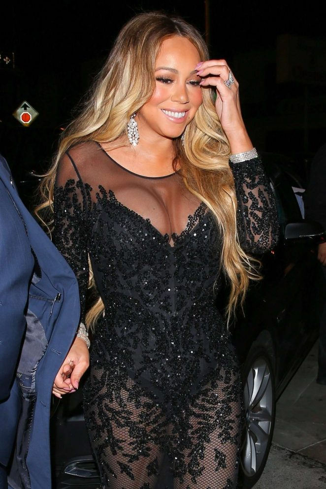 Mariah Carey at Craig's restaurant in West Hollywood