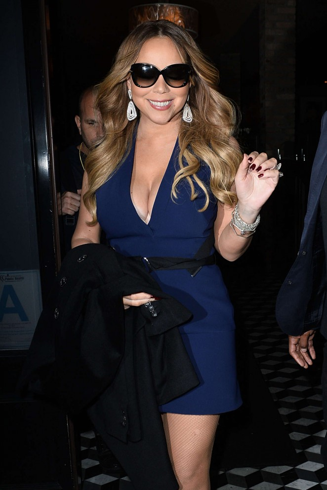 Mariah Carey at Craig's Restaurant in West Hollywood