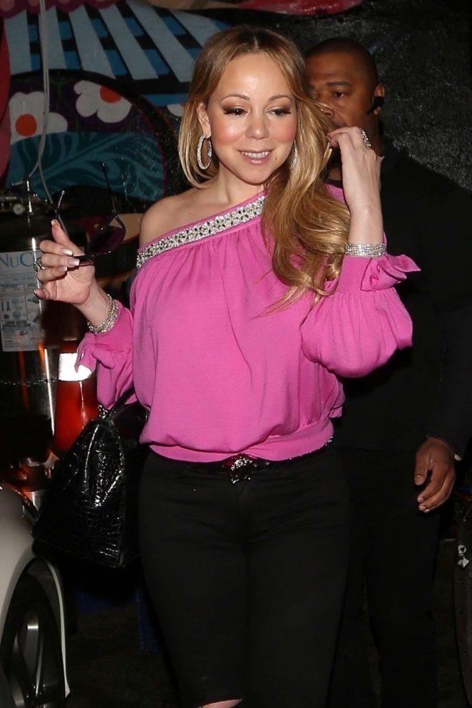 Mariah Carey at Dan Tana's in West Hollywood