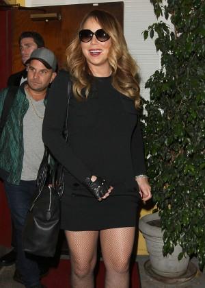 Mariah Carey at Dan Tana's Restaurant in West Hollywood